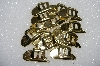 "MBA #S51-265   ""Lot Of 14 Gold Tone Metal Cowboy Hat Concho's"""