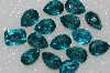"MBA #S51-309   ""Vintage Lot Of Large Blue Topaz Colored Glass Rhinestones"""