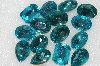"MBA #S51-313   ""Vintage Lot Of 15 Blue Topaz Colored Large Glass Rhinestones"""