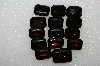 "MBA #S51-286    ""Vintage Lot Of 16 Large Brown Glass Rhinestones"""
