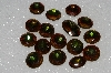 "MBA #S51-304   ""Vintage Lot Of 16 Large Brownish Green Glass Rhinestones"""