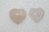 "MBA #S51-578   ""Lot Of 2 Cut & Polished Rose Quartz Hearts"""