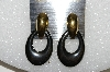 "+MBA S51-168   ""Gold Plated Two Part Hematite Pierced Earrings"""