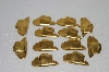 "MBA #S58-144   ""Lot Of 12 Older Gold Tone Metal Cowboy Hats"""