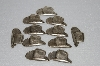 "MBA #S58-139   ""Lot Of 11 Antiqued Silvertone Metal Cowboy Hats"""