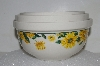"**MBA #S25-132   ""Fancy Ceramic Set Of 3 Sunflower Mixing Bowls"""