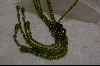 """SOLD""  Heidi Daus Green Crystal Necklace"