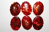 "MBA #S25-059   ""Set Of 6 Red Paua Shell Cabschons"""