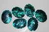 "MBA #S25-054    ""Set Of 6 Green Paua Shell  Cabochons"""