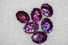 "MBA #S25-104   ""Set Of 6 Purple Paua Shell Cabochons"""