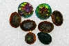 "mba #s25-283   ""Vintage Lot Of 8 Large Glass Rhinestones"""