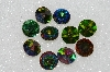 "MBA #S25-278   ""Vintage Lot Of 10 Large Multi Colored Glass Rinestones"""