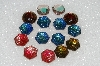 "MBA #S25-260   ""Vintage Lot Of 15 Very Fancy Large Glass Rhinestones"""