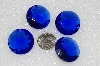 "MBA #S25-250  ""Vintage Lot Of 4 Large faceted Blue Glass Rhinestones"""