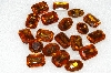 "MBA #S25-225   ""Vintage Lot Of 19 Citrine Colored Faceted Large Glass Rhinestones"""