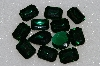 "*MBA #S25-196   ""Vintage Lot Of 12 DK Green Faceted Large Glass Rhinestones"""