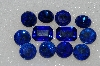 "MBA #S25-220   ""Vintage Lot Of 12 Blue Faceted Large Glass Rhinestones"""