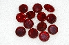"MBA #S25-207   ""Vintage Lot Of 13 Red Large Faceted Glass Rhinestones"""