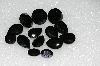 "MBA #S25-244   ""Vintage Lot Of 14 Black Faceted Glass Rhinestones"""