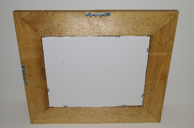 "MBA #S29-299   "" Hand Made Wooden Glass Mosiac Picture Frame"""