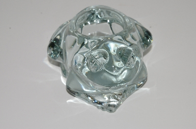 "**MBA #S29-130   ""Indiana Glass Crystal Frog Votive Candle Holder"""