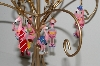 "MBA #S29-134   ""Set Of 6 Hand Painted Resin Flamingo Beach Theme  Ornaments"""