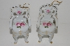 "MBA #S29-141    ""Set Of 2 Victoria's Garden Porcelain Rose Chair Ornaments"""
