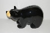 """SOLD""   MBA #S29-194   ""Bearfoots Large Black Bear Ceramic Piggy Bank"""