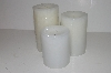 "+MBA #S30-359   ""2004 Candle Impressions Set Of 3 Flameless Vanilla Scented Candles"""