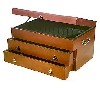"+MBA #S30-299   ""2004 RSVP Handcrafted Wallace Silversmiths Flatware Chest"""
