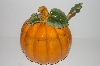 "**MBA #S30-168   ""Older Large Pumpkin Shaped Soup Tureen With Matching Ladle"""