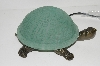 "+MBA #S30-086   ""2003 Green Lighted Crackle Turtle Accent Lamp"""