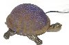 "+MBA #S30-078   ""2003 Blue/Brown  Crackle Turtle Accent Lamp"""