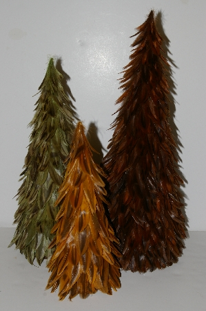 "MBA #S30-102   ""Set Of 3 Feather Trees"""