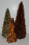 "+MBA #S30-102   ""2003 Set Of 3 Feather Trees"""