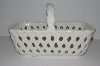 "**MBA #S13-160   ""Older White Ceramic Basket"""