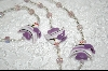 6 Lavender Glass Angel Fish & AB Beads