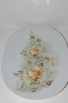 "**MBA #S28-272     ""Hutschenreuther Yellow Rose Porcelain Platter"""