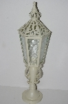 "+MBA #S28-283   ""2004 White Metal Candle Lamp"""