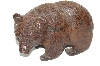 "**MBA #S28-316     ""Older Hand Carved Rose Wood Grizzly Bear"""