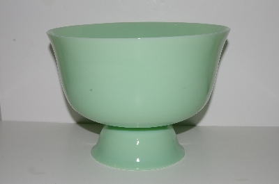 "**MBA #S28-333   ""Reproduction Green Milk Glass Serving Bowl"""