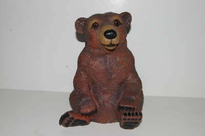 "MBA #S28-219   ""Art Line Sitting Brown Bear Lawn Ornament"""