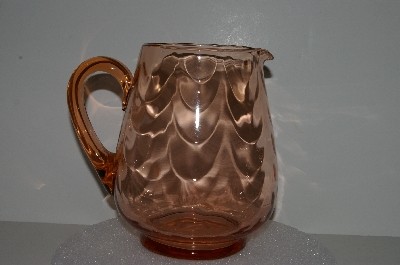 "**MBA #S28-001   ""Beautiful Pink Depression Glass Water Pitcher"""