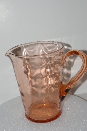 """SOLD"" MBA #S28-027  ""Pink Depression Glass Pitcher"""