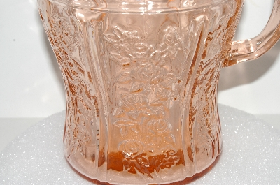 "**MBA #S28-049  ""Pink Sharon Cabbage Rose Pitcher"""