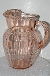 """SOLD""  MBA #S28-061   ""Vintage Pink Depression Glass Pitcher"""