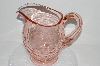 "**MBA #S28-078   ""Fancy Vintage Pink Depression Glass Pitcher"""