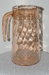 "**MBA #S28-091   ""Vintage Pink Depression Glass Pitcher"""