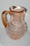 "**MBA #S28-109   ""Vintage Pink Depression Glass Water Pitcher"""