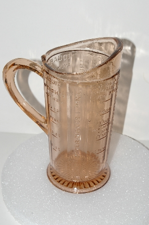 "**MBA #S28-104  ""Pink  Glass Measuring Pitcher"""
